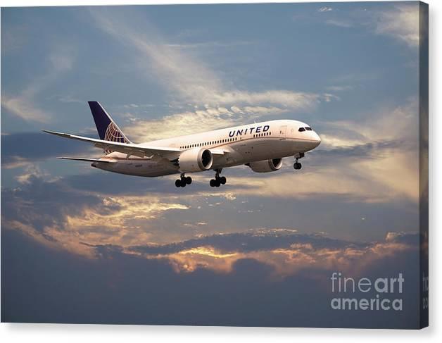 United Airlines B787-8 Dreamliner N26906  by Airpower Art