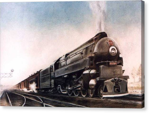 Trains Canvas Print featuring the painting Broadway Limited by David Mittner