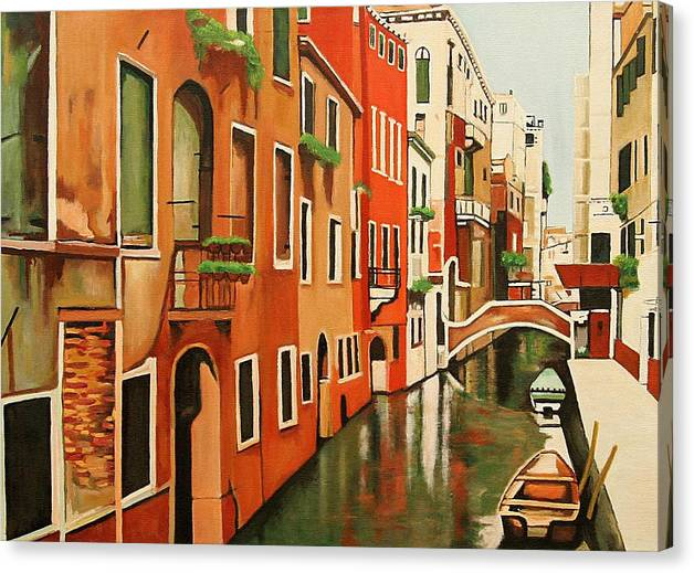 Venice Italy Canvas Print featuring the painting Venice In Color by Patrick Hunt