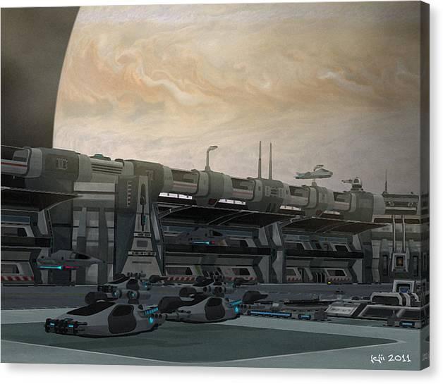 Trek Canvas Print featuring the digital art Leaving Home by J Carrell Jones