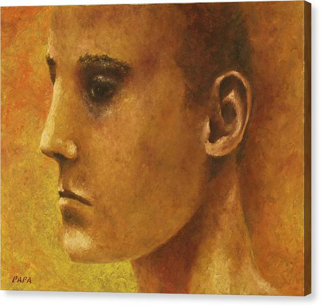 Face Canvas Print featuring the painting Golden Boy by Ralph Papa