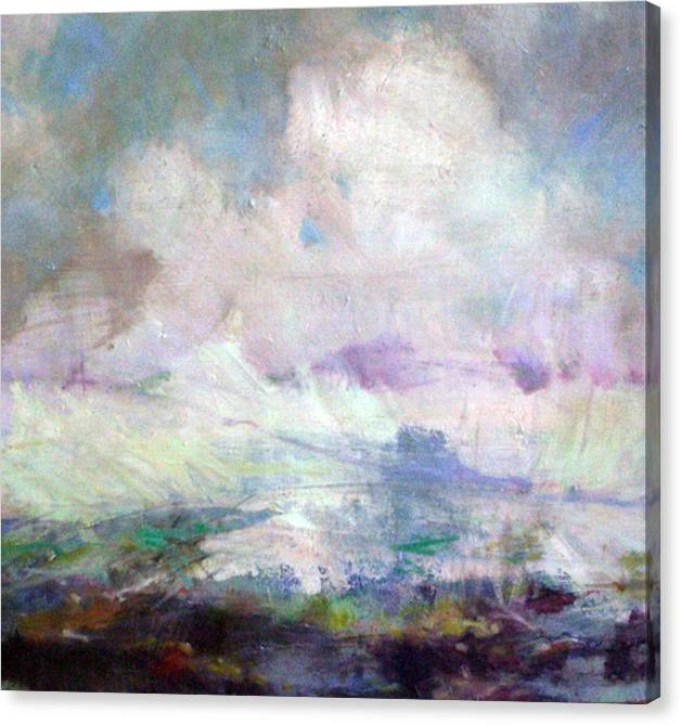 Abstract Canvas Print featuring the painting Seascape-Untitled by Marilyn Muller
