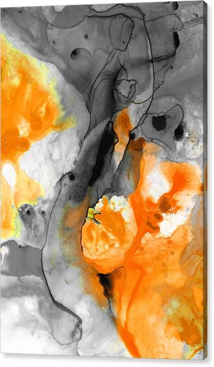 Orange Abstract Art - Iced Tangerine - By Sharon Cummings by Sharon Cummings