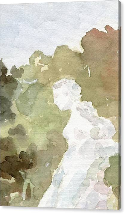 Statue of a Woman Watercolor Paintings of France by Beverly Brown