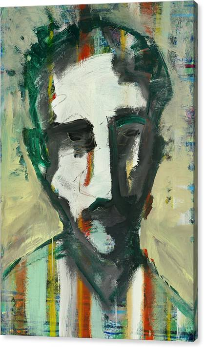 Abstract Face Canvas Print featuring the painting Jacko by Andy Morris