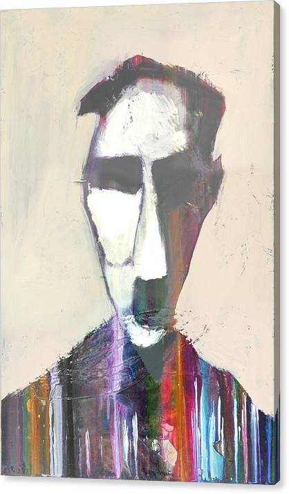 Abstract Face Canvas Print featuring the painting Oliver by Andy Morris