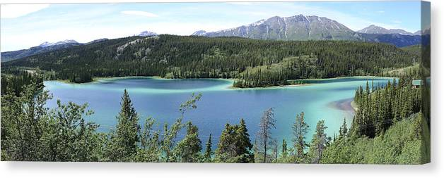 Emerald Lake Canvas Print featuring the photograph Emerald Lake by Richard Henne