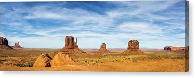 Monument Valley Arizona Utah Border Nature Photography Canvas Print Art Decor