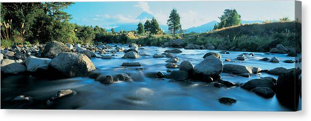Rocks In The River Mount Taranaki Canvas Print Canvas Art By Panoramic Images