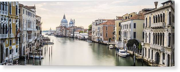 Venice Canvas Print featuring the photograph Accademia Bridge by Marco Missiaja
