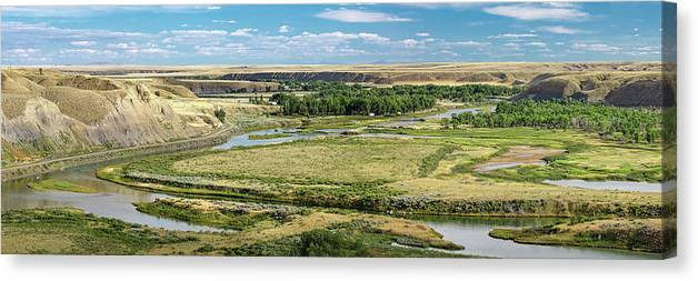 Panorama Canvas Print featuring the photograph Marias River Valley by Todd Klassy