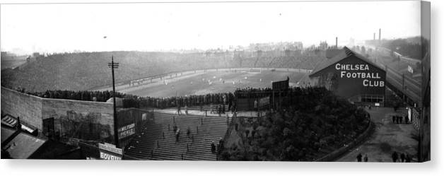 Crowd Canvas Print featuring the photograph Stamford Bridge by Alfred Hind Robinson