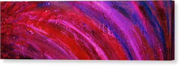 Waves Canvas Print featuring the painting Wave Lengths by Anne-Elizabeth Whiteway