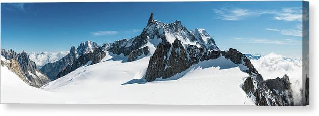 Scenics Canvas Print featuring the photograph Alps White Wilderness Dramatic by Fotovoyager