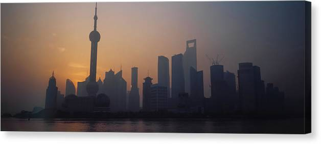 Tranquility Canvas Print featuring the photograph Shanghai In Early Morning by Xijia Cao