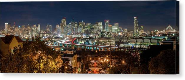 Tranquility Canvas Print featuring the photograph The Breath Taking View Of San Francisco by Www.35mmnegative.com