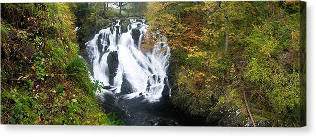 Waterfall In A Forest Swallow Falls Canvas Print Canvas Art By Panoramic Images