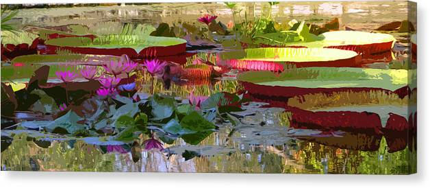 Water Lilies Canvas Print featuring the photograph Passion for Beauty by John Lautermilch