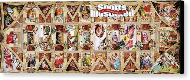 Event Canvas Print featuring the photograph The Sistine Chapel Of Sports, 50th Anniversary Issue Sports Illustrated Cover by Sports Illustrated