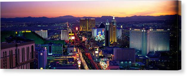 The Strip Las Vegas Nevada Usa Canvas Print Canvas Art By Panoramic Images