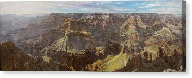 Grand Canyon Arizona Canvas Print featuring the painting Canyon Song by L Diane Johnson