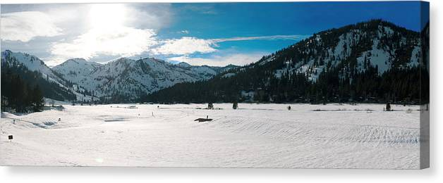 Canvas Print featuring the photograph Squaw Valley Panoramic by Adam Blankenship