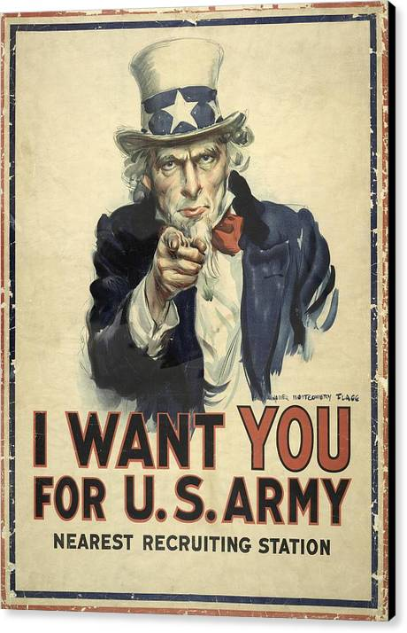 Us Army Recruitment Poster by Library Of Congress