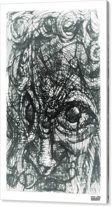 Face Canvas Print featuring the digital art Cubisto 2 by Eddie Rifkind