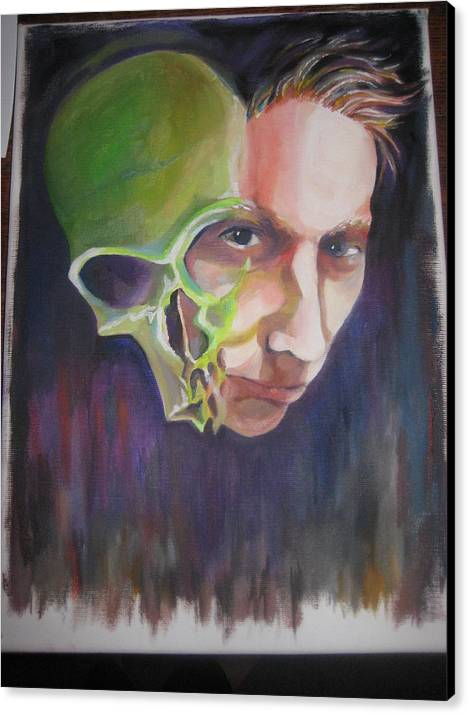 Skull Canvas Print featuring the painting What Is Within by Jan Harris Arduini