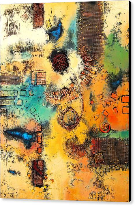 Canvas Print featuring the painting Vision II by Farhan Abouassali