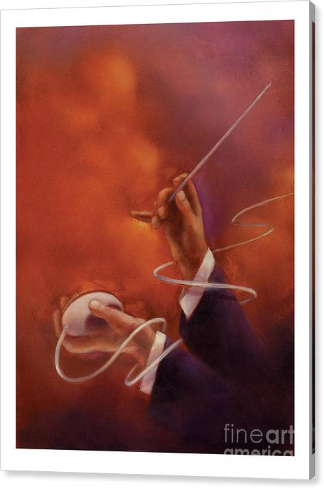 Conductor Canvas Print featuring the painting Conductor by Chris Van Es