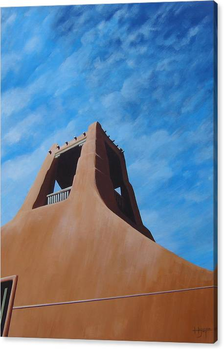 Taos Canvas Print featuring the painting Taos Memory by Hunter Jay