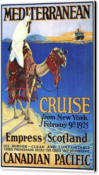 Mediterranean cruise, Canadian Pacific, Bedouin on Camel by Long Shot
