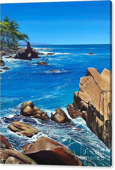 Puerto Vallarta Canvas Print featuring the painting Swept Away by Hunter Jay