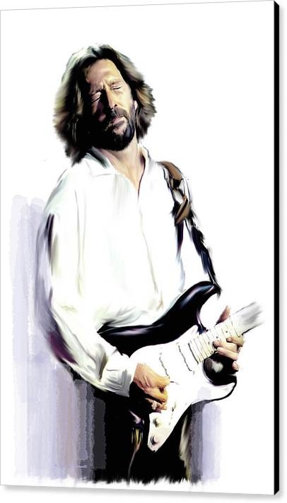 Slow Hand  Eric Clapton by Iconic Images Art Gallery David Pucciarelli