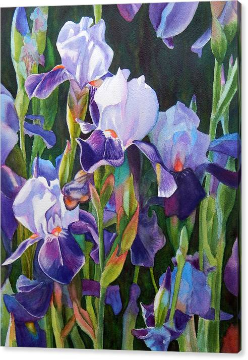 Purple Iris Garden by Rachel Armington