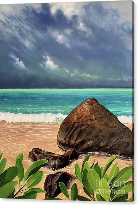 Coastal Canvas Print featuring the painting Limbo Light by Hunter Jay