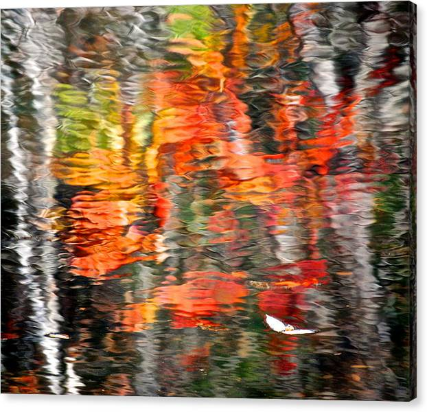 Limited Time Promotion: Fall Reflections Stretched Canvas Print