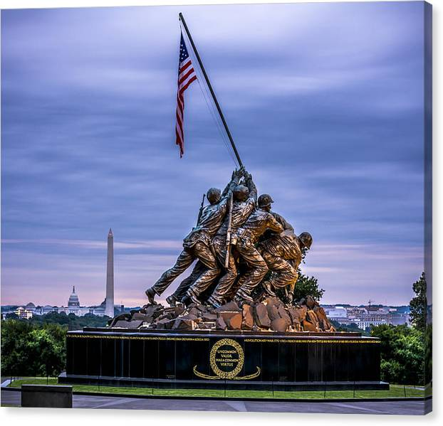 Limited Time Promotion: Iwo Jima Monument Stretched Canvas Print