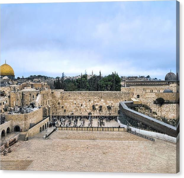 Limited Time Promotion: Jerusalem The Western Wall Stretched Canvas Print