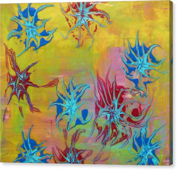Limited Time Promotion: Tentacles  Stretched Canvas Print