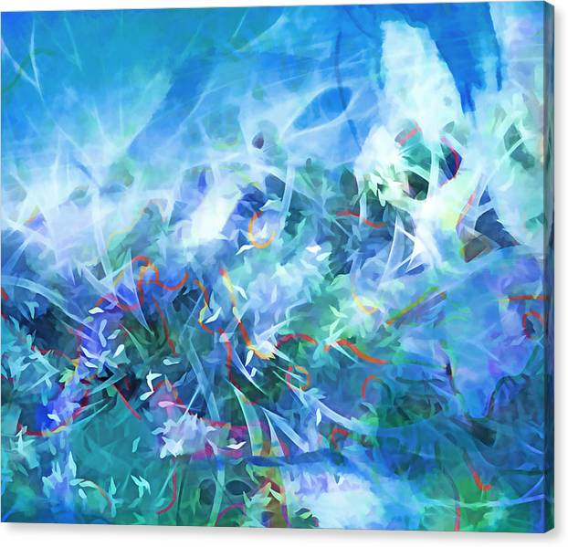 Limited Time Promotion: Blue Wave Stretched Canvas Print