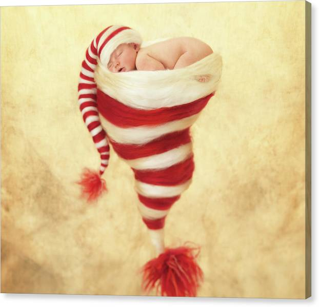 Limited Time Promotion: Happy Holidays Stretched Canvas Print by Anne Geddes