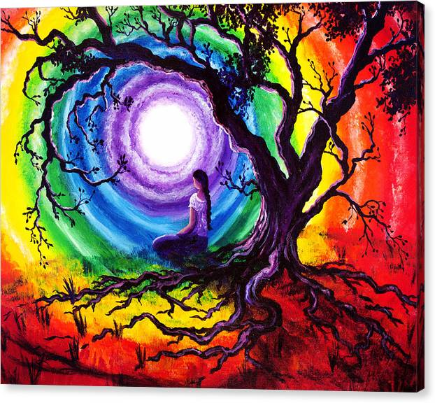 Limited Time Promotion: Tree Of Life Meditation Stretched Canvas Print