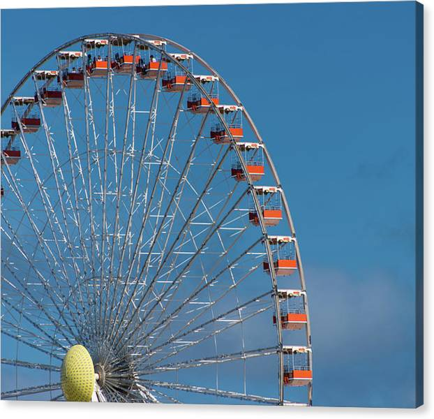 Limited Time Promotion: Wildwood Ferris Wheel Stretched Canvas Print by Jennifer Ancker