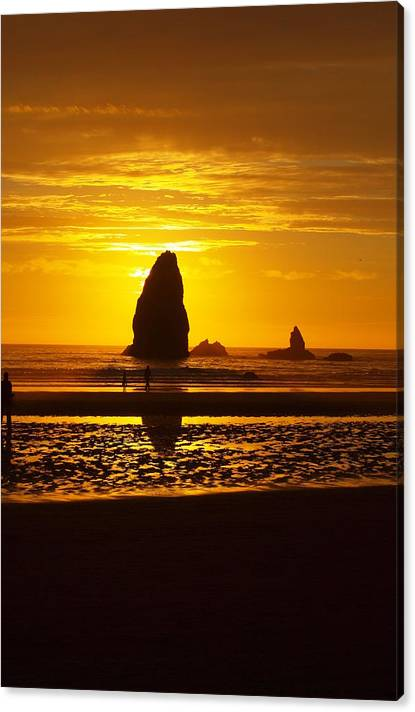 Limited Time Promotion: Beach Sunset 1 Stretched Canvas Print