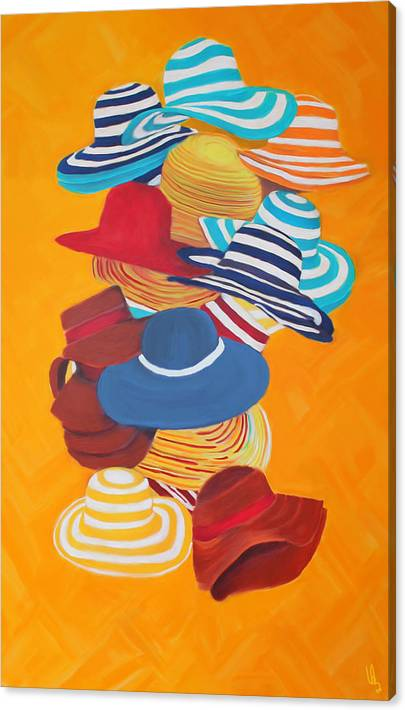 Limited Time Promotion: Hats Off Stretched Canvas Print
