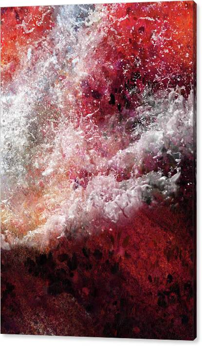 Limited Time Promotion: Abstract Artwork Fury Of The Red Seas Stretched Canvas Print