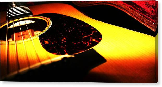Guitar Canvas Print featuring the photograph Martin by Erika Lesnjak-Wenzel