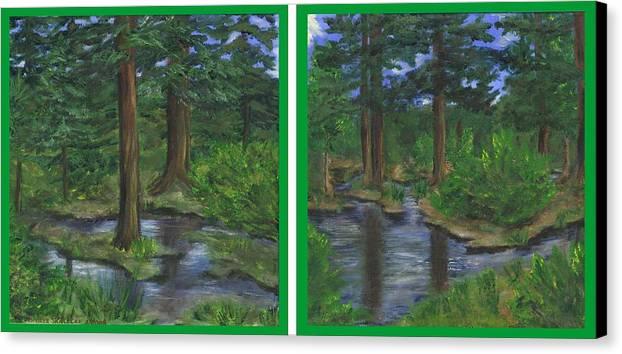 Guanella Pass Canvas Print featuring the painting Near Guanella Pass by Jennifer Skalecke